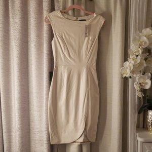 Bebe Brand New - White/Cream faux leather dress